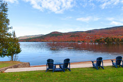 Autumn landscape Mont Tremblant Stock Photography