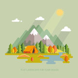 Autumn  landscape. Morning landscape in the mountains. Solitude Royalty Free Stock Images