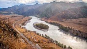 Autumn Landscape Mountain stock foto