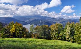 Autumn landscape on mountain Royalty Free Stock Photos
