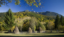Autumn landscape on mountain Stock Photography