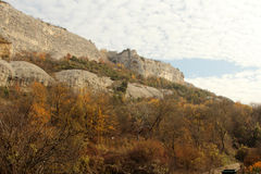 Autumn landscape of the mountain Royalty Free Stock Photo