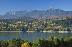 Autumn landscape on mountain Royalty Free Stock Image