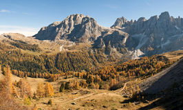 Autumn landscape in mountain. A mountain landscape in autumn in the Italian Alps Stock Images