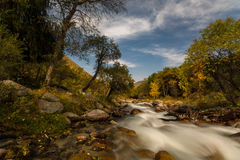Autumn landscape mountain river Royalty Free Stock Photography