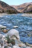 Autumn landscape mountain river North Caucasus Royalty Free Stock Photos
