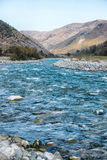 Autumn landscape mountain river North Caucasus Royalty Free Stock Images