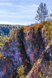 Autumn landscape in the mountains of Berd. Siberia, Russia Royalty Free Stock Photos