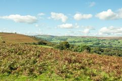 Autumn landscape in the mountains of the Brecon beacons in the British countryside. A rural autumn landscape scene in the British countryside of the Brecon royalty free stock photo