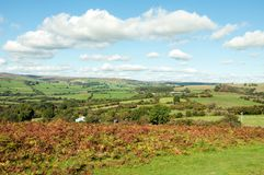 Autumn landscape in the mountains of the Brecon beacons in the British countryside. A rural autumn landscape scene in the British countryside of the Brecon stock photography