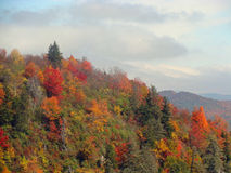 Autumn landscape in the mountains. Bright colors of autumn on the Blue Ridge Parkway Royalty Free Stock Photos
