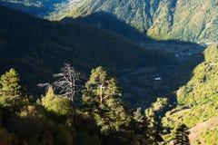 Autumn landscape in the mountains of Georgia Stock Photo