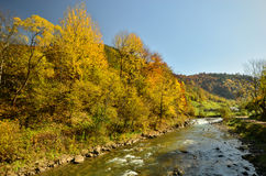 Autumn landscape of mountains Stock Image