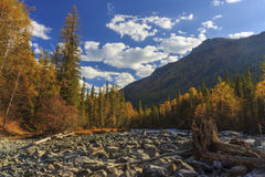 Autumn landscape with mountains, Stock Image