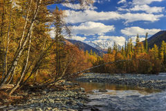 Autumn landscape with mountains, Royalty Free Stock Photo