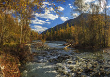 Autumn landscape with mountains, Royalty Free Stock Image