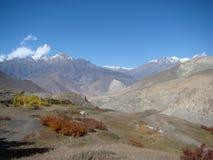 Autumn landscape in muktinat region Stock Photos