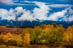 Autumn Landscape near Jackson Hole Wyoming Stock Photo