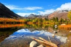 Sabrina lake ,Bishop California. Autumn landscape near Sabrina lake ,Bishop California royalty free stock images
