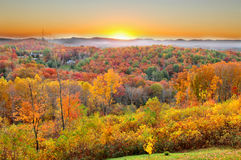 Autumn Landscape in North Carolina. Autumn Landscape at Blue Ridge Parkway, North Carolina USA Stock Photography
