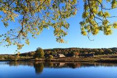 Autumn Landscape och flod Dee i Aberdeen Royaltyfria Bilder