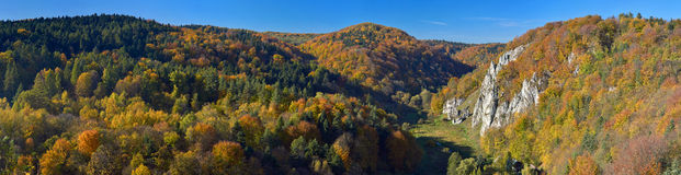 Autumn landscape Ojcow National Park. Royalty Free Stock Photos