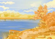 Autumn landscape in the open air. royalty free illustration