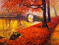 Autumn landscape stock illustration