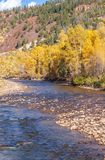 Autumn Landscape på Delores River Colorado Arkivfoto