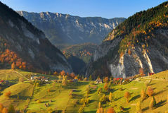Autumn landscape panorama romania Stock Image
