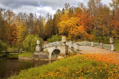 Autumn landscape in Pavlovsk park, Saint Petersburg Royalty Free Stock Images