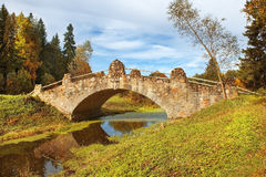 Autumn landscape in Pavlovsk Park, Saint Petersburg Stock Photography