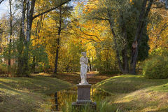 Autumn landscape in Pavlovsk park, Saint Petersburg, Russia Royalty Free Stock Photography