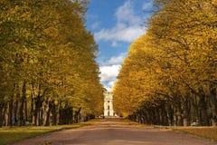 Autumn landscape in Pavlovsk park, Saint Petersburg, Russia Stock Photo