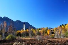 Autumn Landscape at Pfronten Stock Image