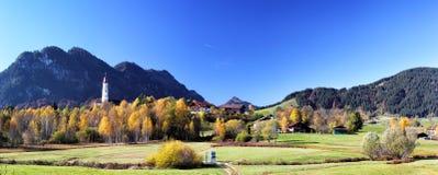 Autumn Landscape at Pfronten Royalty Free Stock Photos