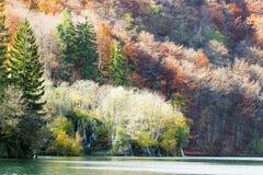 Autumn landscape of Plitvice lakes Stock Photography