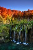 Autumn landscape in Plitvice Lakes National Park, Croatia‎ Royalty Free Stock Images