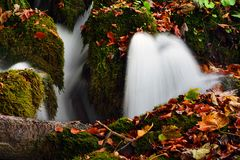 Autumn landscape in Plitvice Lakes National Park, Croatia‎ Stock Photography