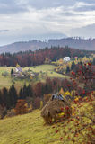 Autumn landscape in Poiana Marului, Romania Stock Photography