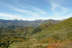 Autumn landscape in Pyrenees, France Stock Photo