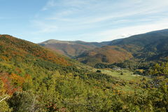 Autumn landscape in Pyrenees, France Stock Image