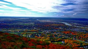 Fall landscape in Quebec royalty free stock images