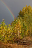 Autumn landscape. Rainbow Stock Image