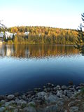 Autumn landscape reflects in the lake (Jyvaskyla, Finland) Royalty Free Stock Photo