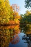 Autumn landscape with reflection Royalty Free Stock Photo