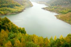 Autumn landscape with river Royalty Free Stock Photo