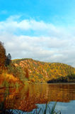 Autumn landscape with river Stock Photography