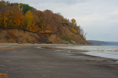 Autumn landscape and river Stock Photography