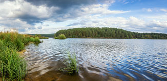 Autumn landscape on the river Ural, the Irtysh, Russia Royalty Free Stock Photography
